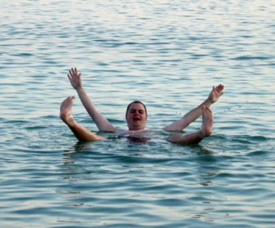Me Swimming in the Dead Sea