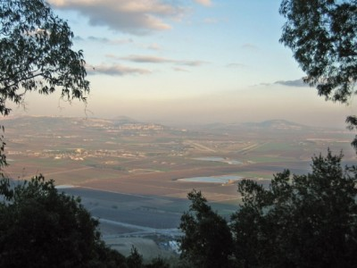 View of Jezreel Valley from Mt. Carmel