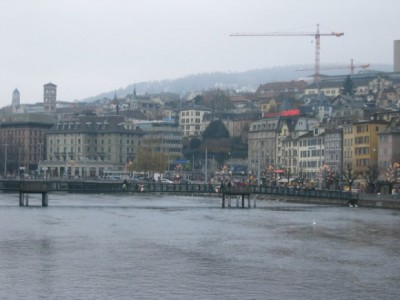 The Limmat River Through Zurich