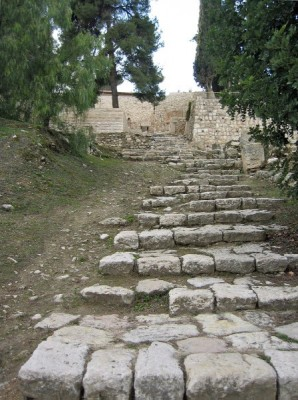 Steps to Kidron Valley