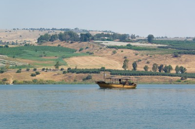 Mount of Beatitudes from the Sea