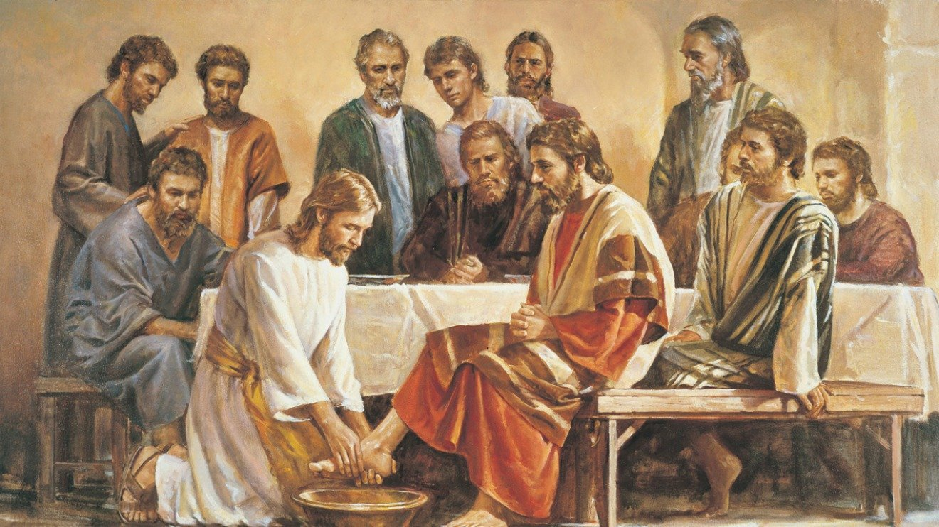 gospel of john foot washing The story of jesus washing the feet of his disciples is the basis for the ritual foot washing that is at the center of our maundy thursday liturgy during holy week in this episode, we see that pattern with which we should be very familiar by now: once again in john's gospel, jesus acts, people don't understand what he's doing, and then.